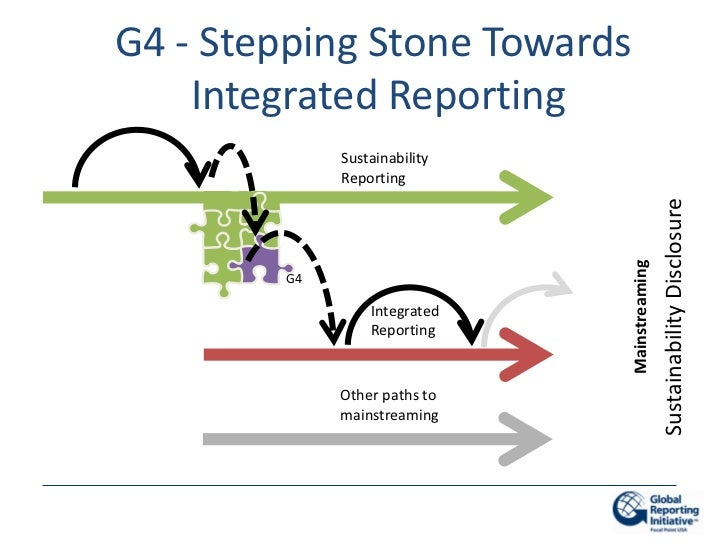 G4 - Stepping Stone Towards    Integrated Reporting             Sustainability             Reporting                      ...