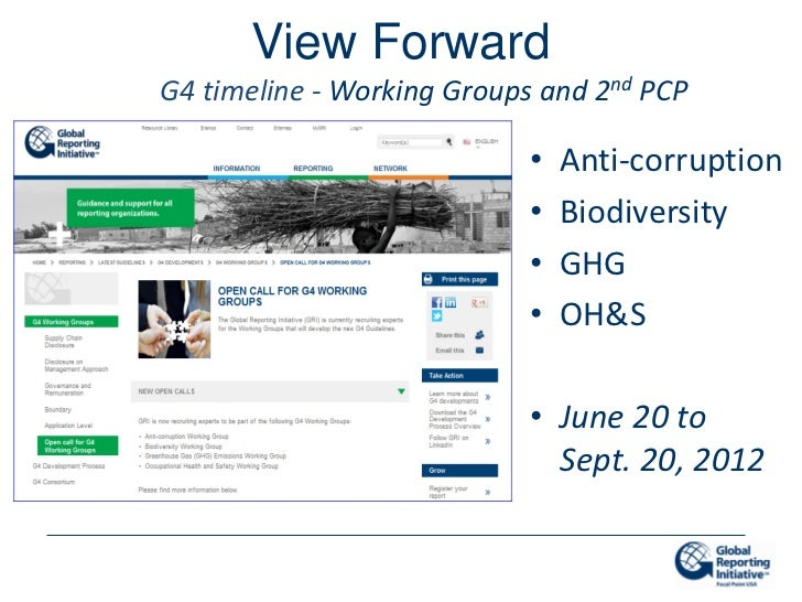 View ForwardG4 timeline - Working Groups and 2nd PCP                            •   Anti-corruption                       ...