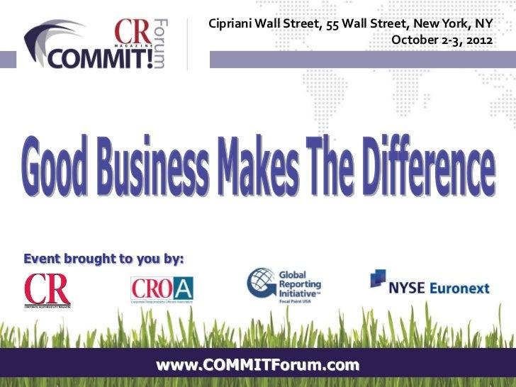 Cipriani Wall Street, 55 Wall Street, New York, NY                                                             October 2-3...