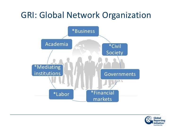 GRI: Global Network Organization                    *Business       Academia                   *Civil                     ...