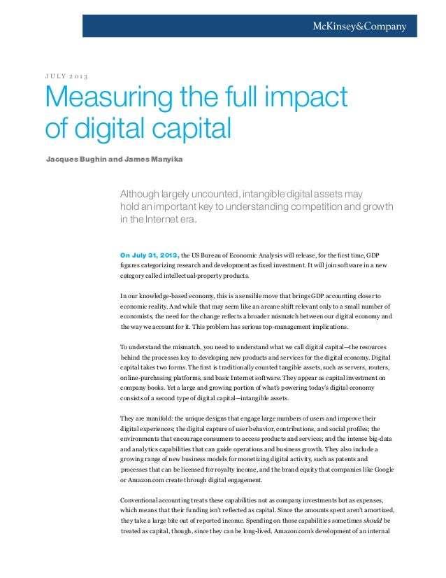 Although largely uncounted, intangible digital assets may hold an important key to understanding competition and growth in...