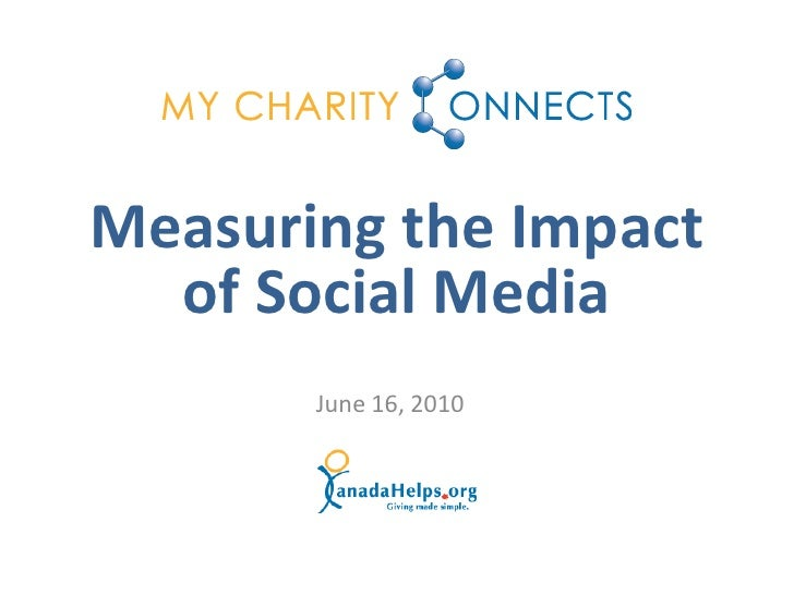 Measuring the Impact   of Social Media        June 16, 2010
