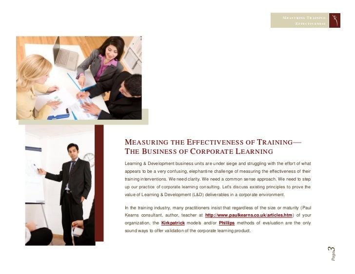 Measuring Training Effectiveness Slide 3