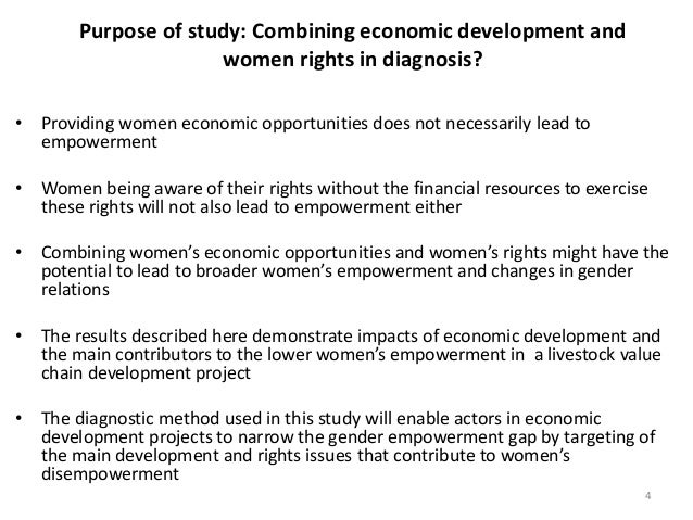Social and economic empowerment