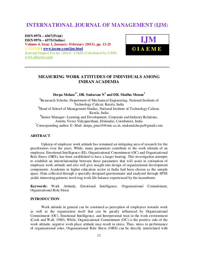 International Journal of Management (IJM), ISSN 0976 – 6502(Print), ISSN 0976 –INTERNATIONAL JOURNAL OF MANAGEMENT (IJM)  ...