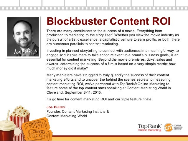 Measuring Your Content Marketing Box Office Success - A Content Marketing World eBook Slide 2