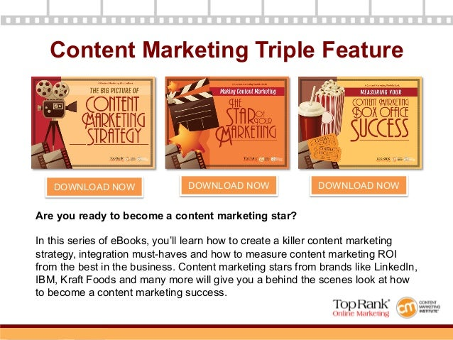 Measuring Your Content Marketing Box Office Success - A Content Marketing World eBook Slide 3