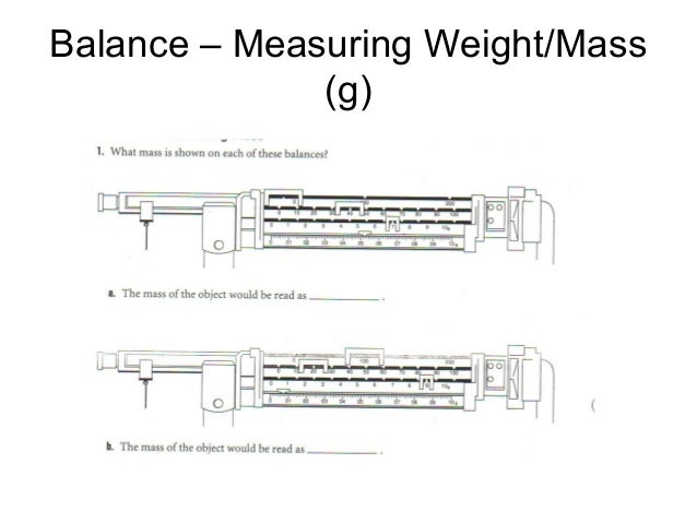 Balance – Measuring Weight/Mass (g)