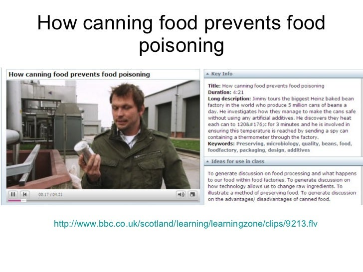 How canning food prevents food poisoning http://www.bbc.co.uk/scotland/learning/learningzone/clips/9213.flv