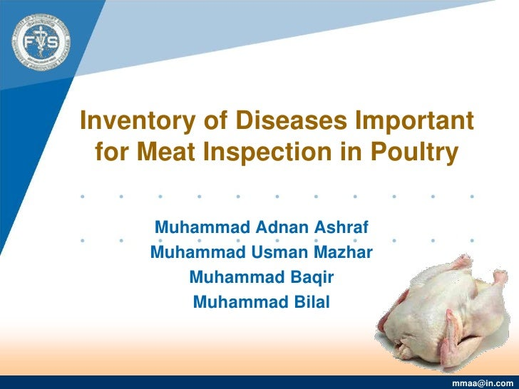 Inventory of Diseases Important for Meat Inspection in Poultry<br />Muhammad Adnan Ashraf <br />Muhammad Usman Mazhar<br /...
