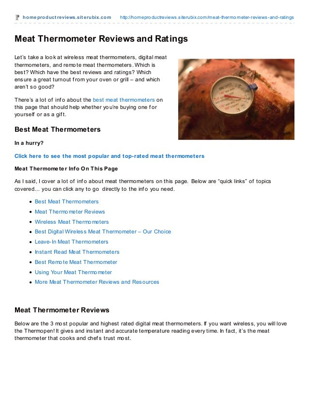 homeproduct reviews.sit erubix.com http://homeproductreviews.siterubix.com/meat-thermometer-reviews-and-ratingsMeat Thermo...