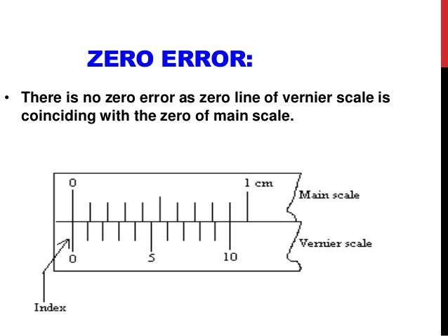 Measuring instruments ppt zero error ccuart Image collections