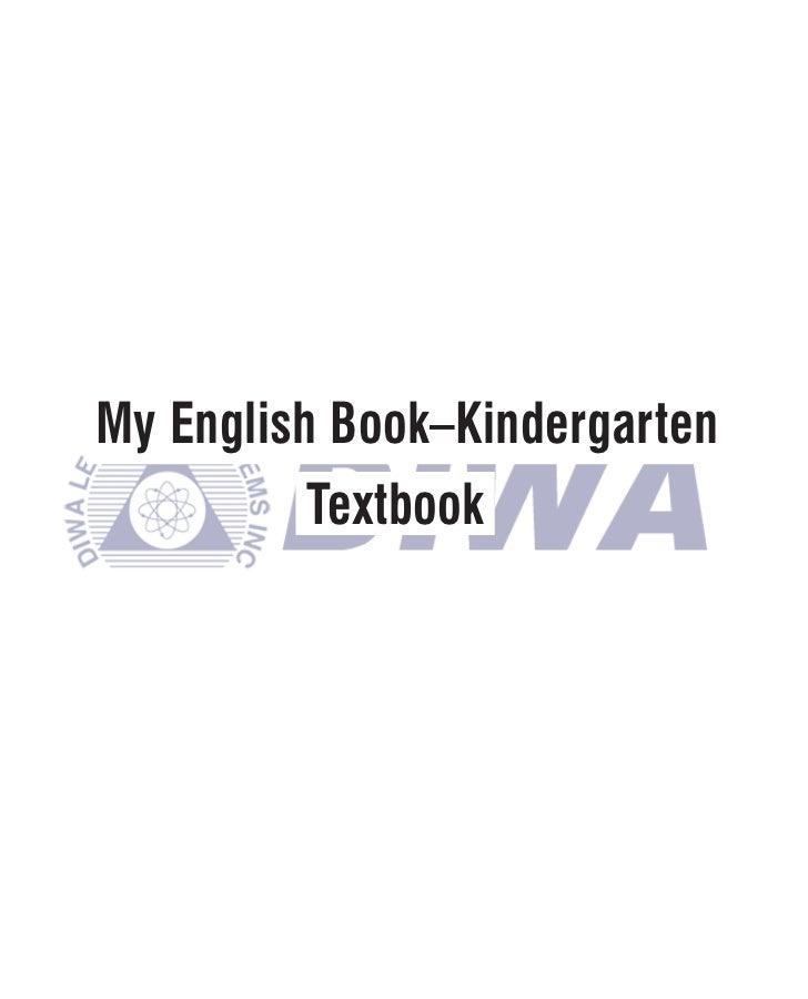 My English Book–Kindergarten          Textbook