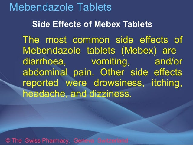 Vermox Side Effects How Long