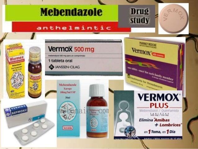 Vermox 100mg Mebendazole