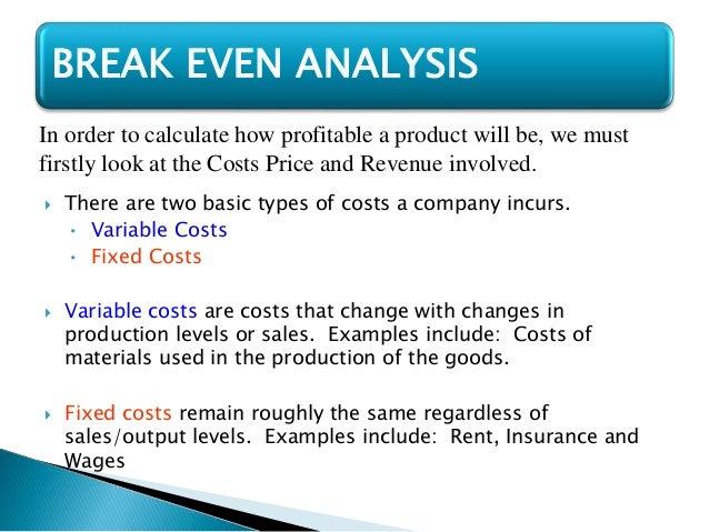 BREAK EVEN POINT; 4.  Define Breakeven Analysis