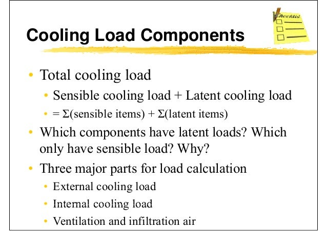 Air Cooling: Air Cooling Load Calculation