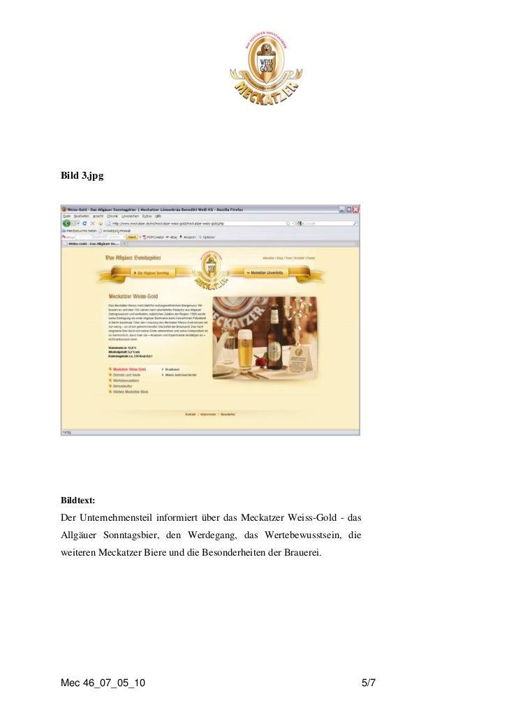 Bild 3.jpgBildtext:Der Unternehmensteil informiert über das Meckatzer Weiss-Gold - dasAllgäuer Sonntagsbier, den Werdegang...