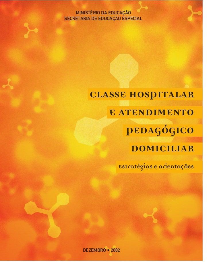 MINISTÉRIO DA EDUCAÇÃOSECRETARIA DE EDUCAÇÃO ESPECIAL          CLASSE HOSPITALAR             E ATENDIMENTO                ...