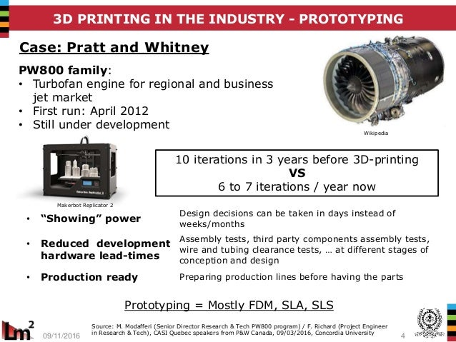 3D printing: disrupting the development and production phase
