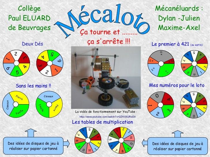 Collège                                                                                               Mécanéluards :    Pa...