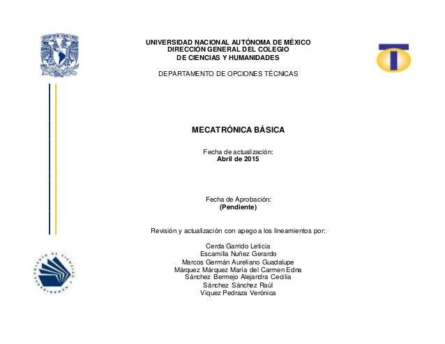 UNIVERSIDAD NACIONAL AUTÓNOMA DE MÉXICO DIRECCIÓN GENERAL DEL COLEGIO DE CIENCIAS Y HUMANIDADES DEPARTAMENTO DE OPCIONES T...