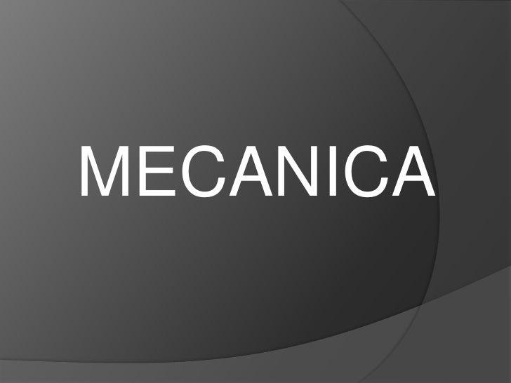 MECANICA<br />