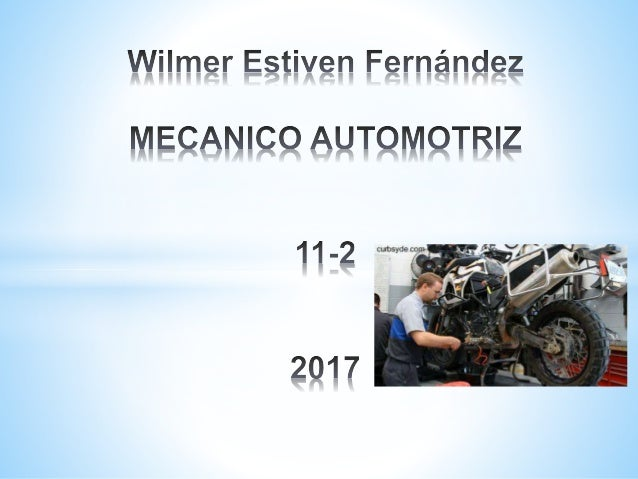 Mecanico automotriz Slide 1