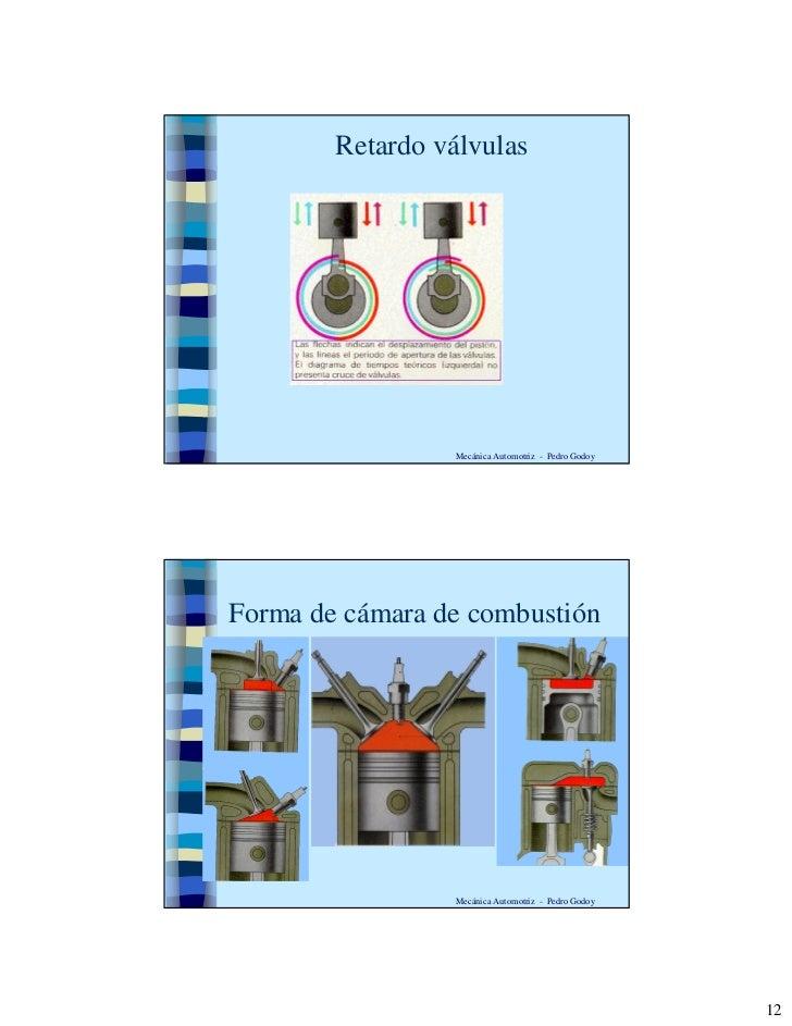 Retardo válvulas                      Mecánica Automotriz - Pedro Godoy     Forma de cámara de combustión                 ...