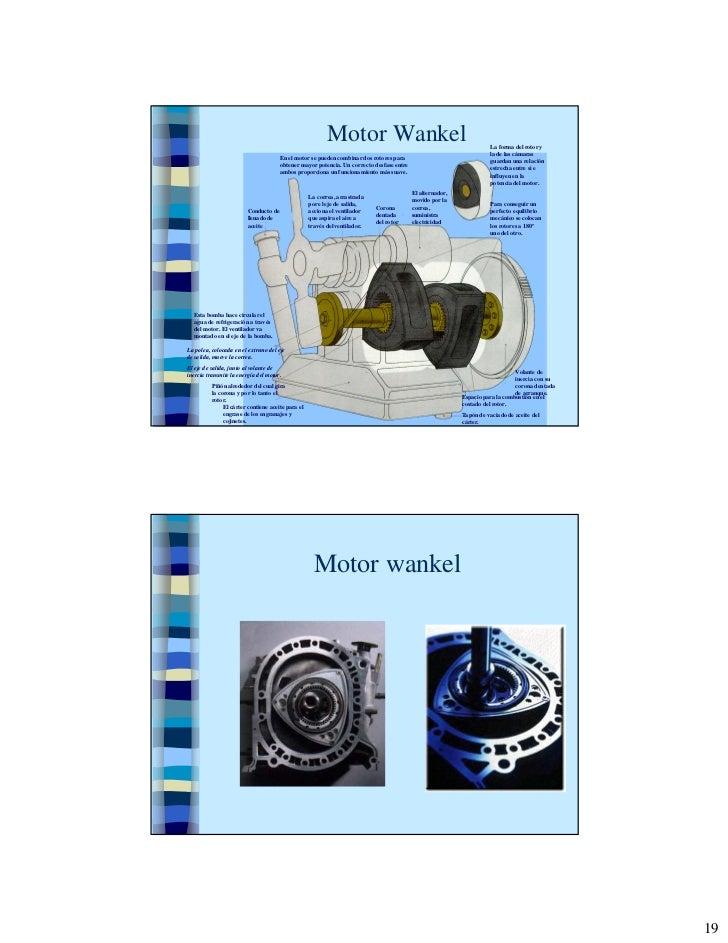 Motor Wankel                                                 La forma del rotor y                                         ...