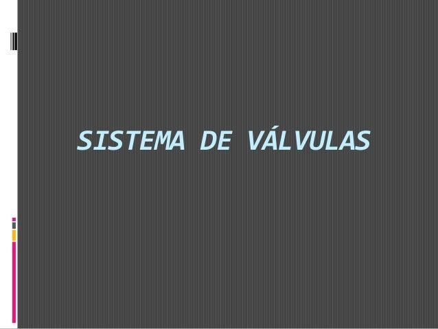 SISTEMA DE VÁLVULAS