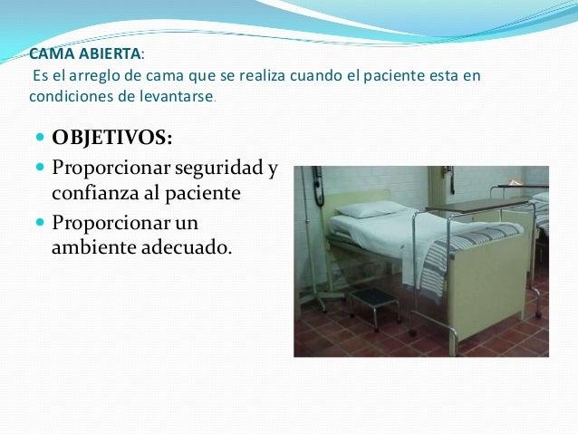 Tendido de camas mecanica corporal posiciones sue o y for Cama abierta