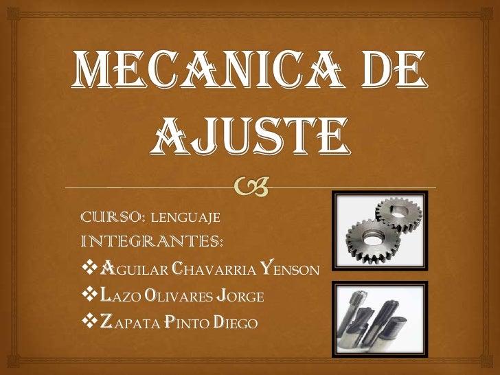 CURSO: LENGUAJEINTEGRANTES:AGUILAR CHAVARRIA YENSONLAZO OLIVARES JORGEZAPATA PINTO DIEGO
