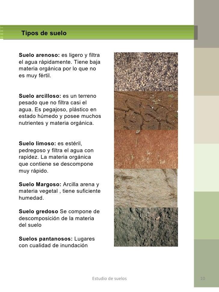 Mecanica de suelo final - Tipos de suelos ...