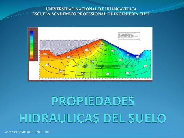 Mecanica de Suelos I - UNH - 2014 1 UNIVERSIDAD NACIONAL DE HUANCAVELICA ESCUELA ACADEMICO PROFESIONAL DE INGENIERIA CIVIL
