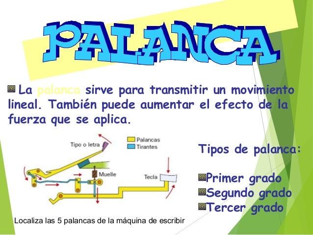 Palanca dePalanca de primerprimer génerogénero Ley de la Palanca: P x dP = R x dR Ventaja mecánica: se produce cuando dP >...