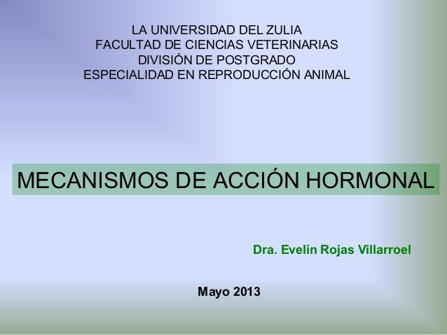 LA UNIVERSIDAD DEL ZULIA FACULTAD DE CIENCIAS VETERINARIAS DIVISIÓN DE POSTGRADO ESPECIALIDAD EN REPRODUCCIÓN ANIMAL  MECA...