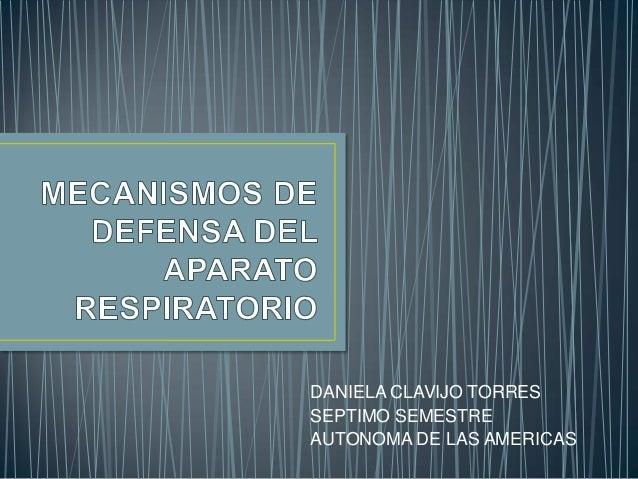 DANIELA CLAVIJO TORRES SEPTIMO SEMESTRE AUTONOMA DE LAS AMERICAS