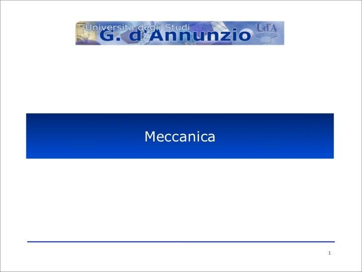 Meccanica            1