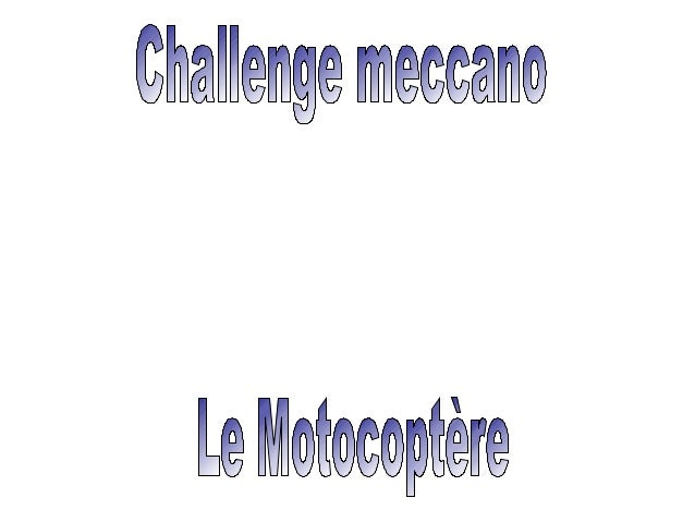 De L'héliceDu Motocoptère