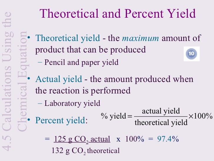 Theoretical Yield Equation Example - Jennarocca