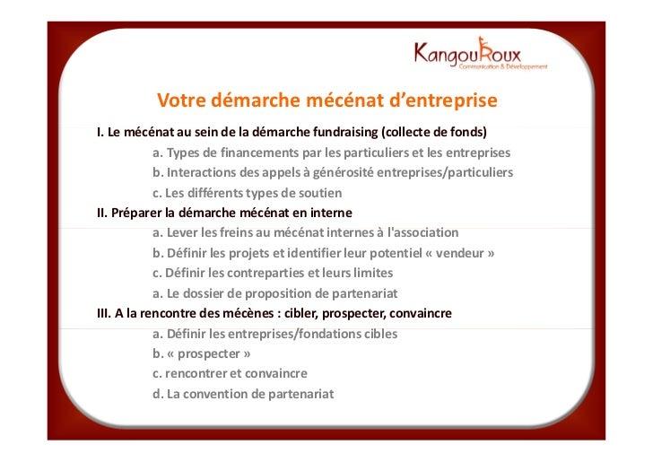 Mecenat KangouRoux_formation_du_24_avril_2012 Slide 2