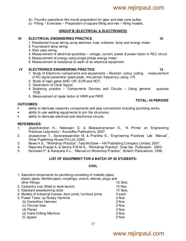 mech syllabus El108 introduction to electrical engineering, for electrical engineering department cp108 introduction to computer engineering, for computer engineering department ex108 introduction to electronics and telecommunication engineering, for extc department it108 introduction to information technology for.