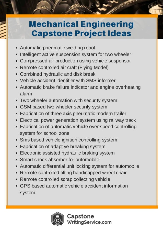 capstone project ideas Nursing capstone project ideas can be based on what degree you are doing look at what the requirements of your course are find out what are the areas that interest you the.