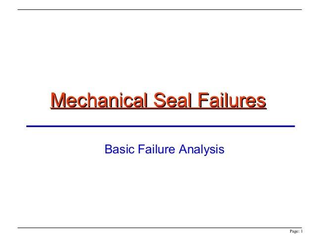 Mechanical seal-failures