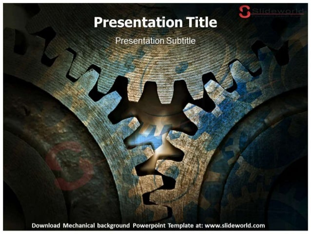 Mechanical Background Powerpoint Template
