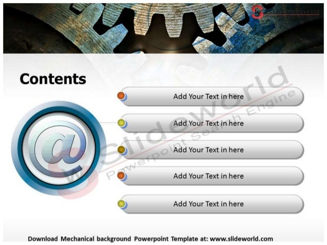 Mechanical background powerpoint template Slide 3