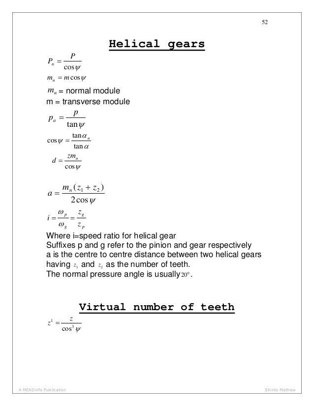 HELICAL GEAR DESIGN PROCEDURE PDF DOWNLOAD