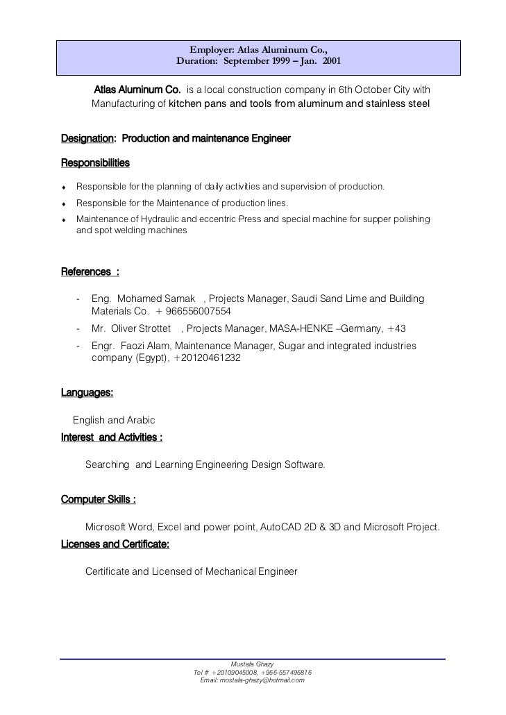 building resume template