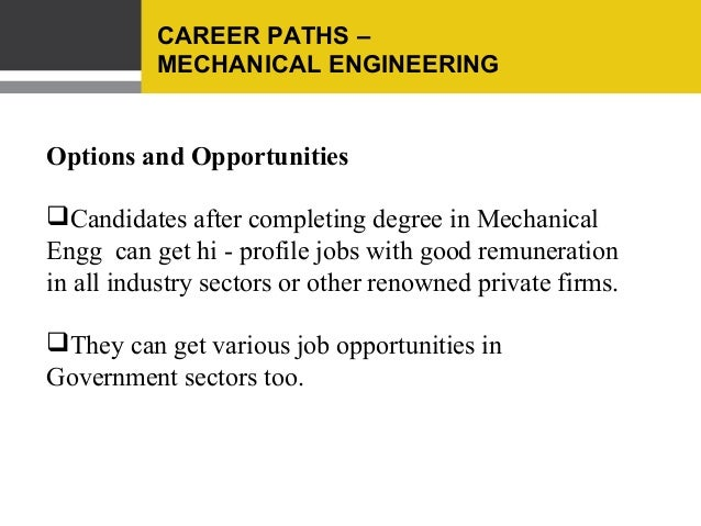 Best career options for mechanical engineers